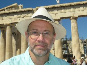 Dr. Dean Adams at the Parthenon in Greece
