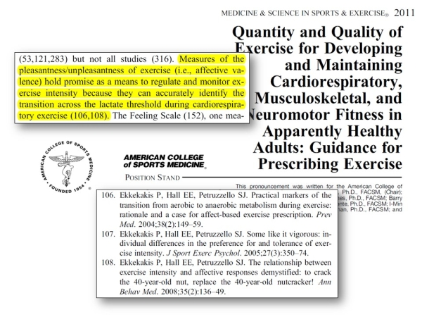 ACSM Quantity and Quality Statement