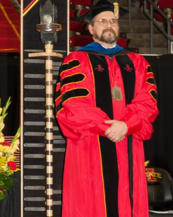 Robert S Wallace - Serving as Chief Faculty Marshal at Commencement