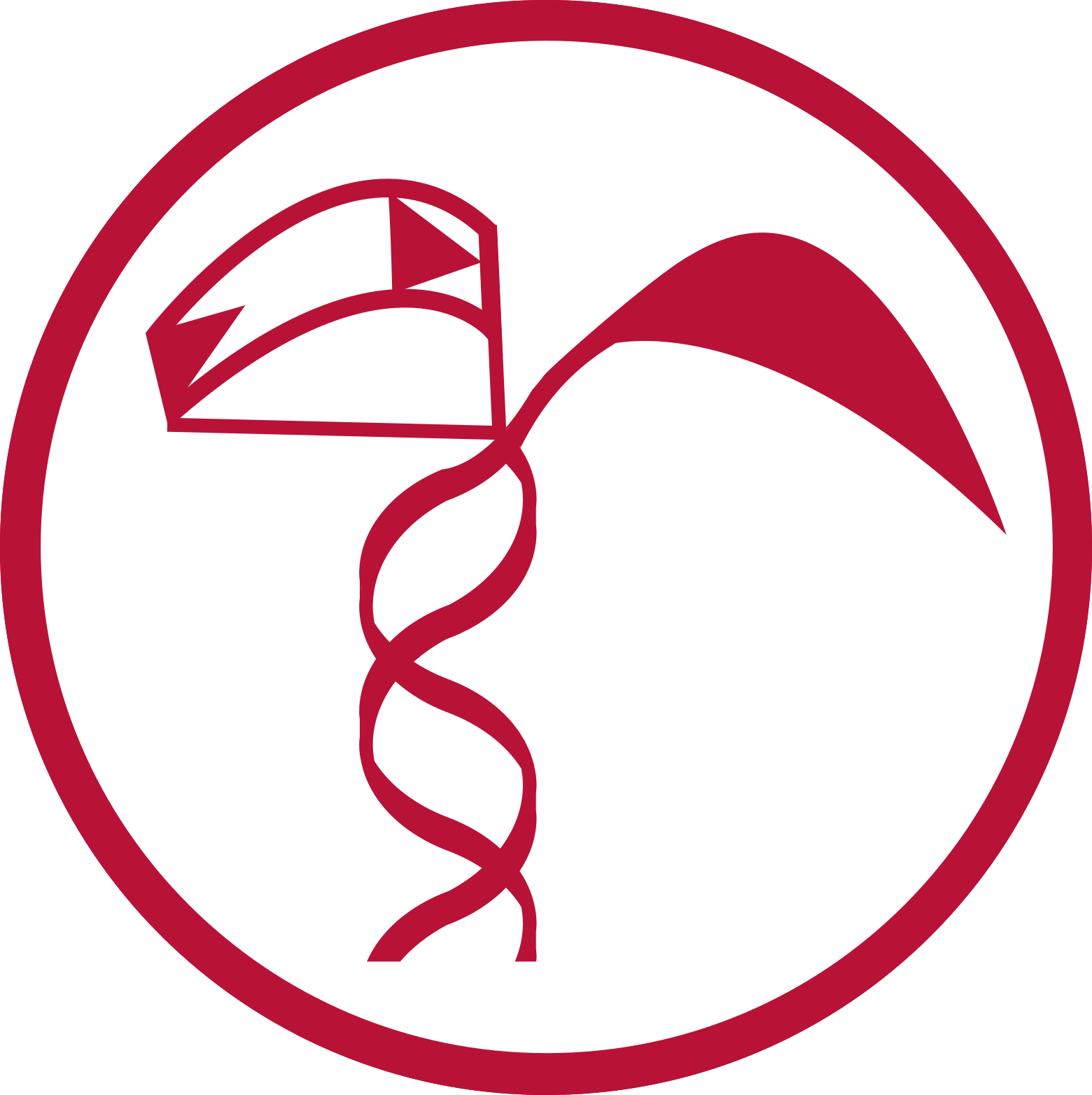 Anderson Genomics Lab logo representing a maize seedling with a DNA double-helix stem, one plant leaf, and one leaf illustrating a LTR retrotransposon inserting into the DNA